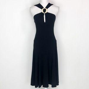 NWT MICHAEL KORS ITALIAN MADE Black Resort Dress